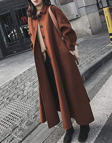 Velours Manteau De Show large Show Pour coloré Et As D'hiver Épaisse Taille Vêtements Fuweiencore Le Sur Femmes Genou Vrac X Laine En Long Caramel 5qptv