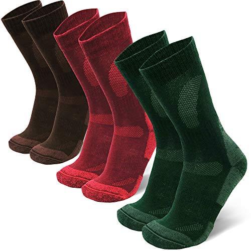 Merino Wool Hiking & Walking Socks 3 pack (Multicolor: Brown