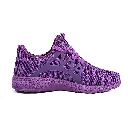 Feetmat WomensSneakersUltraLightweightBreathableMeshAthleticRunningShoes 7 Purple