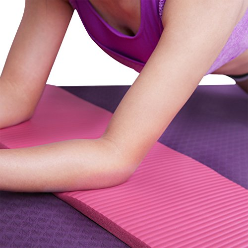 HDE Yoga Knee Pad 15mm Thick Anti-Slip Workout Mat for Yoga Pilates Fitness and Exercise Pressure Point Relief Pain Free 24″x10″ Cushion Review