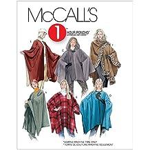 McCall's Patterns M3448 Misses' Ponchos, Size Y (SM-MED-LRG)