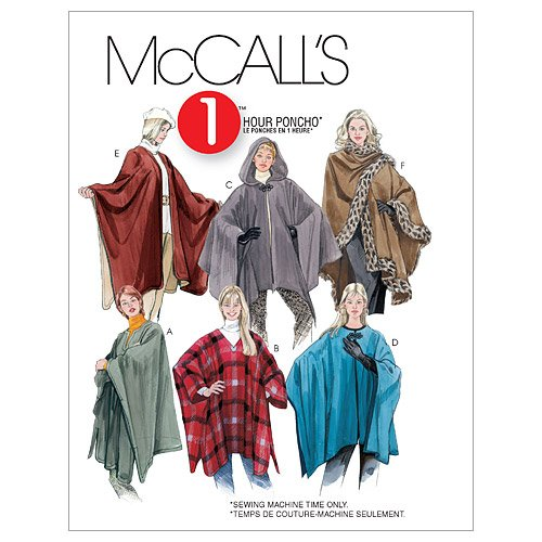 McCall's Patterns M3448 Misses' Ponchos, Size Y (SM-MED-LRG) ()