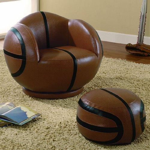 Sports Basketball Chair Ottoman Coaster
