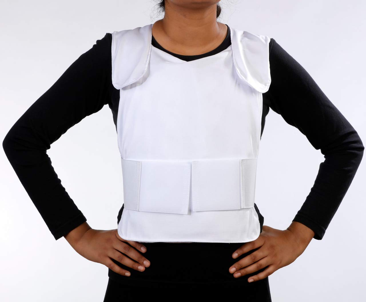 Glacier Tek Concealable Cool Vest with Set of 8 Nontoxic Cooling Packs