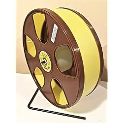 "Wodent Wheel Sugar Glider/Hamster 11"" Diameter Yellow Brown Panels 12.3"" Total HT."