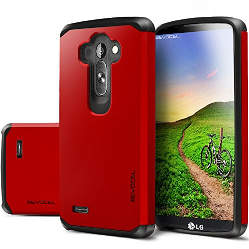 Evocel® LG G4 Case - Dual Layer Armor Protector Case For LG G4 - Evocel® Retail Packaging, Fire Engine Red
