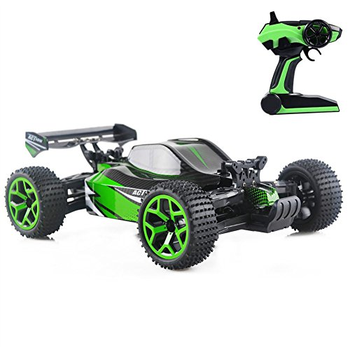 4WD Remote Control Car Electric RC Cars for Kids Adults, High Speed 1/18 Scale Rc Trucks Off road Racing Vehicle, 2.4Ghz Radio Remote Control (15 Min Nimh Charger)