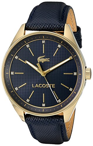 Lacoste Women's 'PHILADELPHIA' Quartz Resin and Leather Casual Watch, Color:Blue (Model: 2000933)
