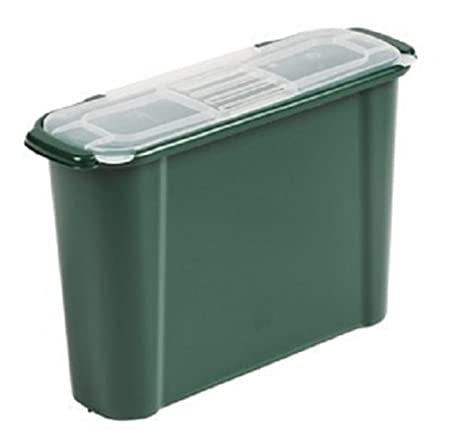 Original Organics 9 Litres Slim Kitchen Compost Bin Caddy   Under Sink Food  Waste Container With