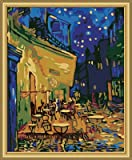 "DiyOilPaintings Cafe Bar Paint By Numbers Kits, 20""x16"", Cafe Terrace At Night Paint By Number Kits, Origin Paintings By Van Gogh"