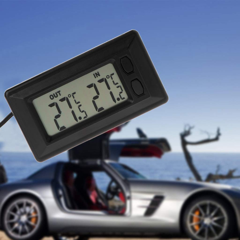 Term/ómetro Digital para Coche con Pantalla LCD y Cable de 1,5 m Freshsell