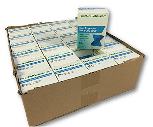 Flexible Fabric Bandages Bulk 24 boxes/case (Blue Fingertip Flex 1-3/4x3