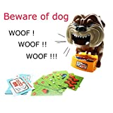 TONOR Be Ware of Barking Dog Novelty Prank Bones Card Toy Board Game for Kids/Party