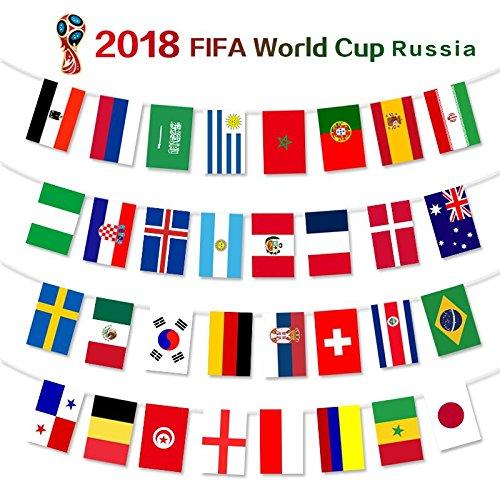 36piedi europeo Cup top 32string bandiere internazionali, 20*30cm 32paesi festone con bandiere appeso JIJA