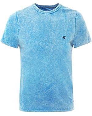Men's Logo Batik T-Shirt Blue