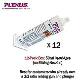 Plexus MA310 All Purpose High Strength MMA Adhesive 50ml/1.7oz cartridge 12-Pack (#31500)