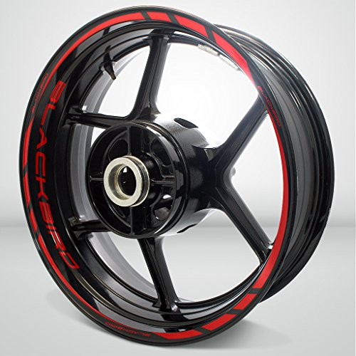 Red Motorcycle Rims - 9