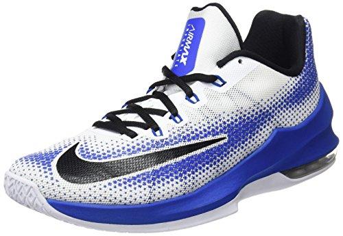 NIKE Herren Air Max Infuriate Low Basketballschuh Blau-weiß-schwarz