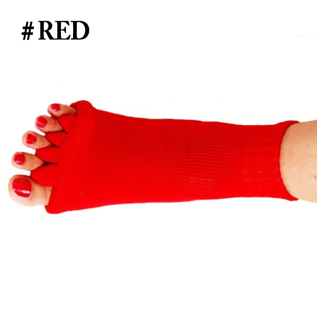Kapmore 1 Pair Toe Separator Socks Pain Relief Open Toe Socks