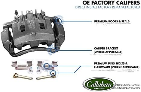 FRONT Premium Grade OE Semi-Loaded Caliper Assembly Pair Set CCK11031 2