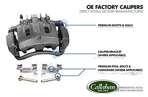 2 CCK01478 FRONT Premium Grade OE Semi-Loaded Caliper Assembly Pair Set