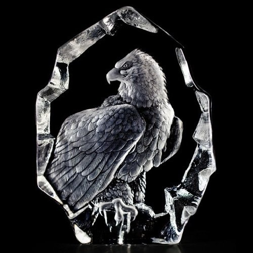Mats Jonasson Bald Eagle Swedish Crystal ()