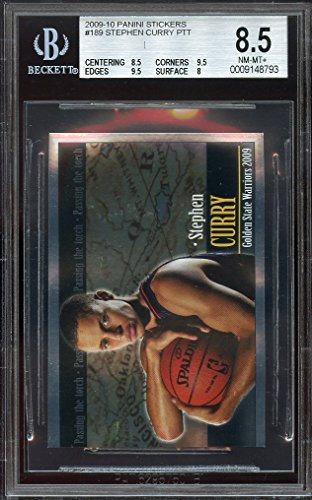 2009-10-panini-stickers-189-stephen-curry-ptt-rookie-bgs-85-85-95-95-8-graded-card