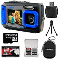 Coleman Duo 2V9WP Dual Screen Shock & Waterproof Digital Camera (Blue) with 16GB Card + Case + Kit Benefits Review Image