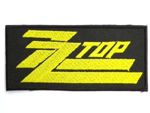 ZZ TOP Gold Logo Rock Band Embroidered Patch 4.2