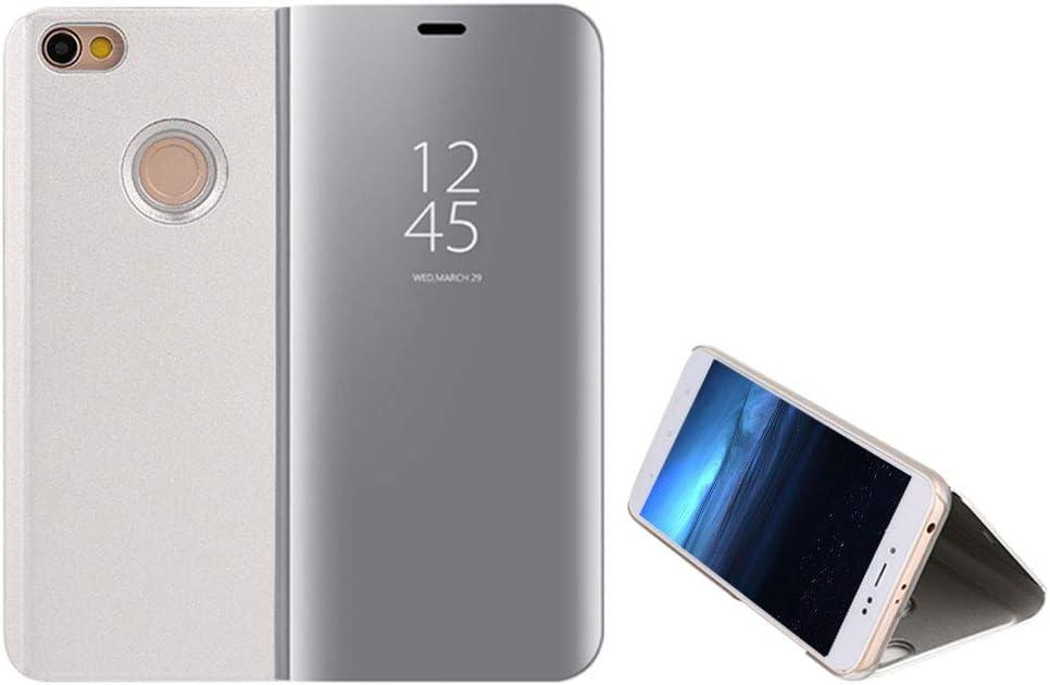 Anfire-ES Funda Xiaomi Redmi Note 5A Prime, Inteligente Case Flip Piel Carcasa de Espejo, Transparente Tapa del Tirón Soporte Plegable Auto Sueño/Estela 360 Protección Lujoso Cover Smart Case: Amazon.es: Electrónica