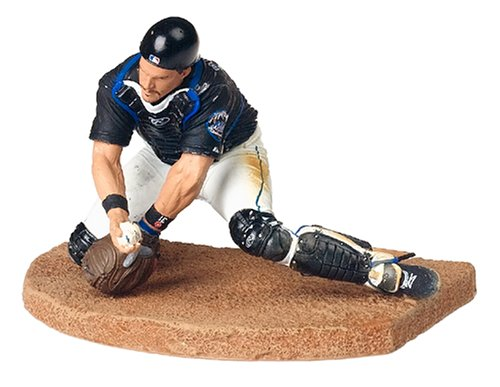 MLB Series 11 Figure: Mike Piazza with Mets Black Jersey ()