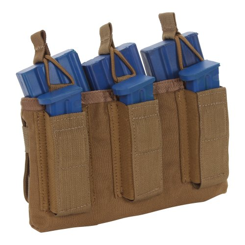 Sandpiper of California Triple Shingle M16 Pouch with Pistol Mags, Coyote Brown