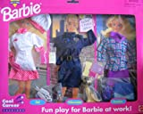 Barbie Cool Career Fashions CHEF, POLICE OFFICER w Dog & EXECUTIVE (1995 Arcotoys, Mattel)
