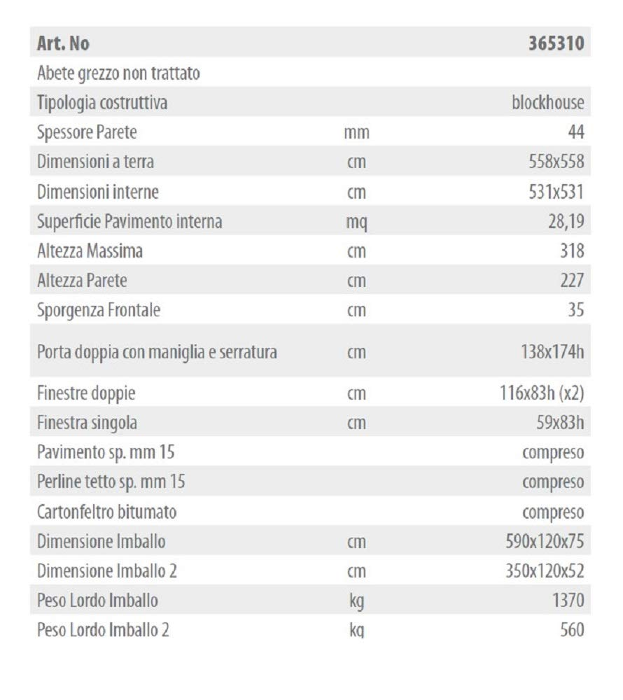 Salone Negozio Online GARTENPRO 558 x 558 x 318h - Caseta de Madera ATKANSAS III: Amazon.es: Jardín