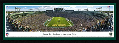 (Green Bay Packers - End Zone - Blakeway Panoramas NFL Posters with Select Frame)