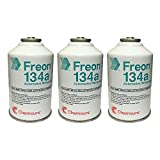 3 Cans R-134a DuPont Suva A/C Automotive Refrigerant/Freon R134a (12oz Cans) by DuPont
