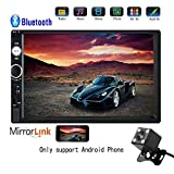 Hikity 7 inch HD Car Stereo Player 1080P Touch Screen Monitor Multimedia Display