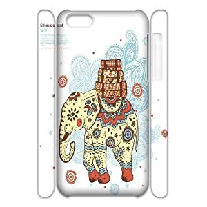 C-Y-F-CASE DIY Design Cute Wild Elephant Animal Pattern Phone Case For iPhone 5C
