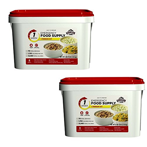 Augason Farms 1-Week 1-Person Emergency Food Supply Kit 6 lbs 15 oz (2 pack)