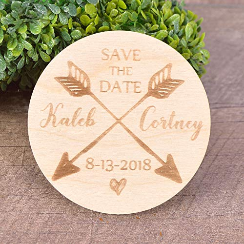 Arrows SavetheDate Magnets Arrow save the date magnets Rustic Wedding invitation SET of 20