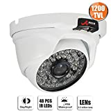 1200TVL Security Dome Camera Day Night Home CCTV System 3.6mm Wide Lens 48 LEDS Surveillance Camera SW SWINWAY & ANRAN