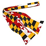 Route One Apparel | Maryland Flag Self-Tie Bowtie