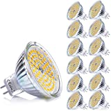 Yafido MR16 LED Bulb 5W GU5.3 LED Spotlight 35W Halogen Light Equivalent 3000K Warm White MR16 400Lumen Non-dimmable AC/DC 12V (Pack of 10)