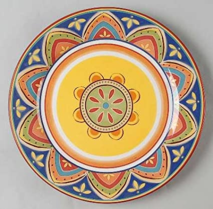 Pier 1 Mexicali Dinner Plate Fine China Dinnerware  sc 1 st  Amazon.com & Amazon.com | Pier 1 Mexicali Dinner Plate Fine China Dinnerware ...