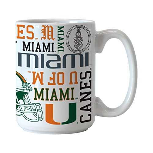 Hurricanes Coffee Mug (NCAA Miami Hurricanes Spirit Mug, 15-ounce)