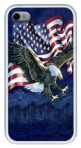 Eagle Talon Flag Custom iPhone 4s/4 Case Cover TPU White