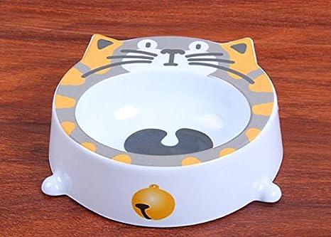 XCXpj Perros Platos Cuenco con Forma de Cabeza de Gato Cabeza de Mascota Cuenco con Forma de Comida de Agua Cuenco de melamina para Perros: Amazon.es: ...