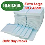 Heritage Pet Products Large Puppy Training Pads Wee Wee Toilet Trainer 60 x 45cm (30 Pack)