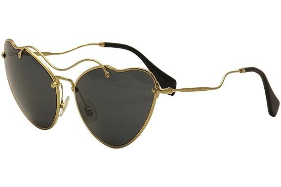 2964743e0527 Miu Miu MU55RS 7OE1A1 Gold MU55RS Cats Eyes Sunglasses Lens Category ...