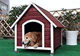 Petsfit 39.8 X 33.1 X 34.1 Inches Wooden Medium Dog House,Pet House Outdoor,Painted With Water Based Paint